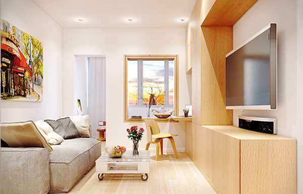 Dar Salonlar İçin Dekorasyon Fikirleri-Dar alanlar için dekorasyon önerileri