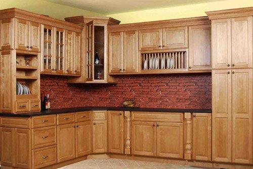 Kahverengi mutfak dolabı