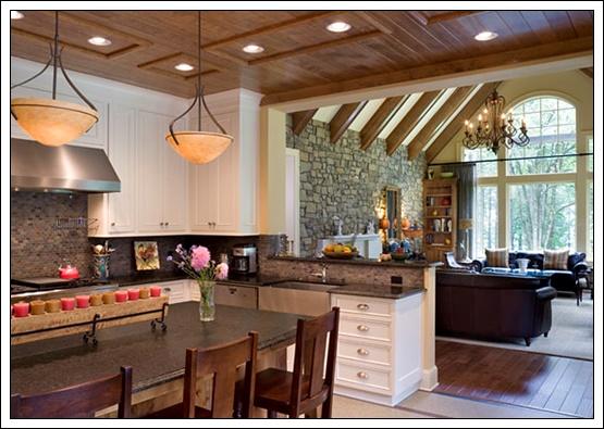 Amerikan Açık Mutfak Modelleri, salonla birleşik mutfak modelleri, mutfak dekorasyon fikirleri