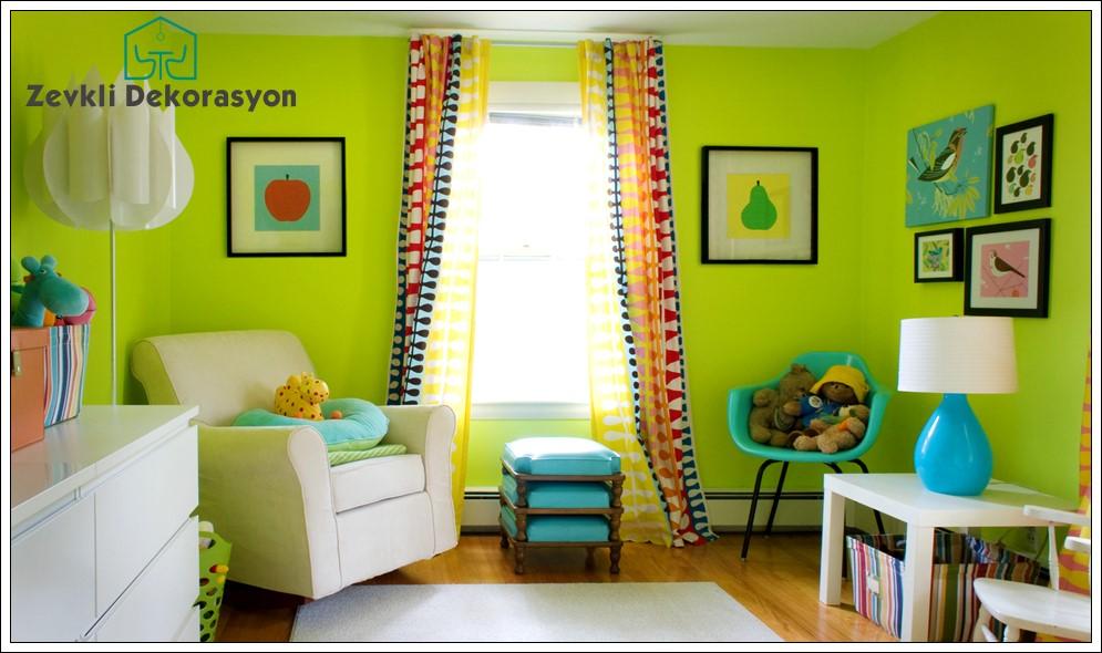 yeşil renk dekorasyon önerileri, yeşil oturma odası dekorasyon,dekorasyonda yeşil renk seçimi