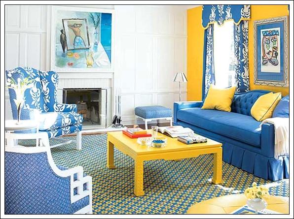 mavi dekorasyon önerileri, mavi renk uyumu, dekorasyonda mavi kullanımı