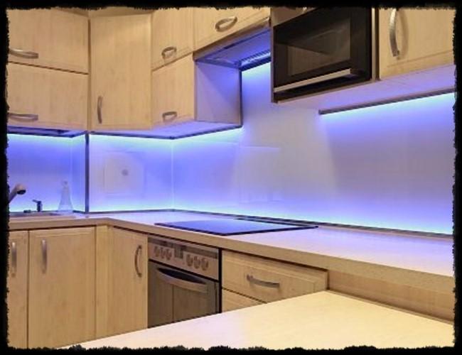 mutfak aydınlatma fikirleri, mutfak dekorayon led aydınlatma