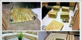 kasa ile dekorasyon yapımı, kasa ile masa nasıl yapılır