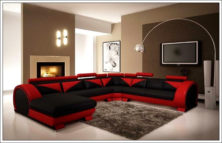 kırmızı siyah mobilya dekorasyon fikirleri, renkli dekorasyon önerileri