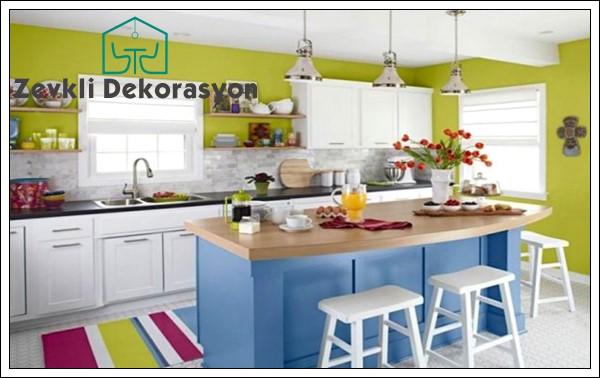 mutfak dolabı renk uyumları, mutfak dolabı renk seçimi