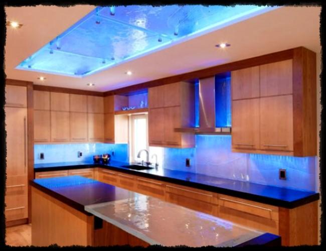 mutfak led aydınlatma fikirleri