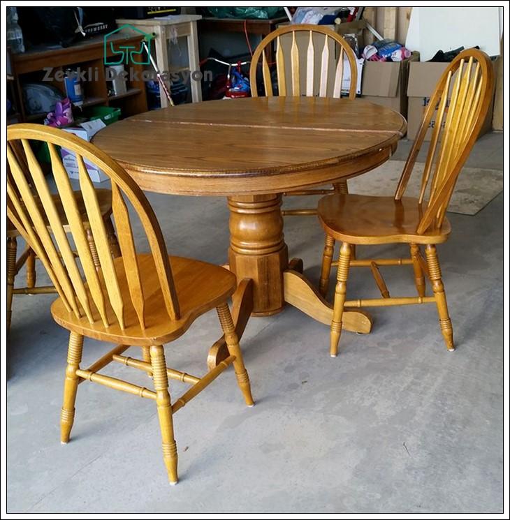 küçük mutfaklar için masa sandalye modelleri, oval mutfak masası modeli