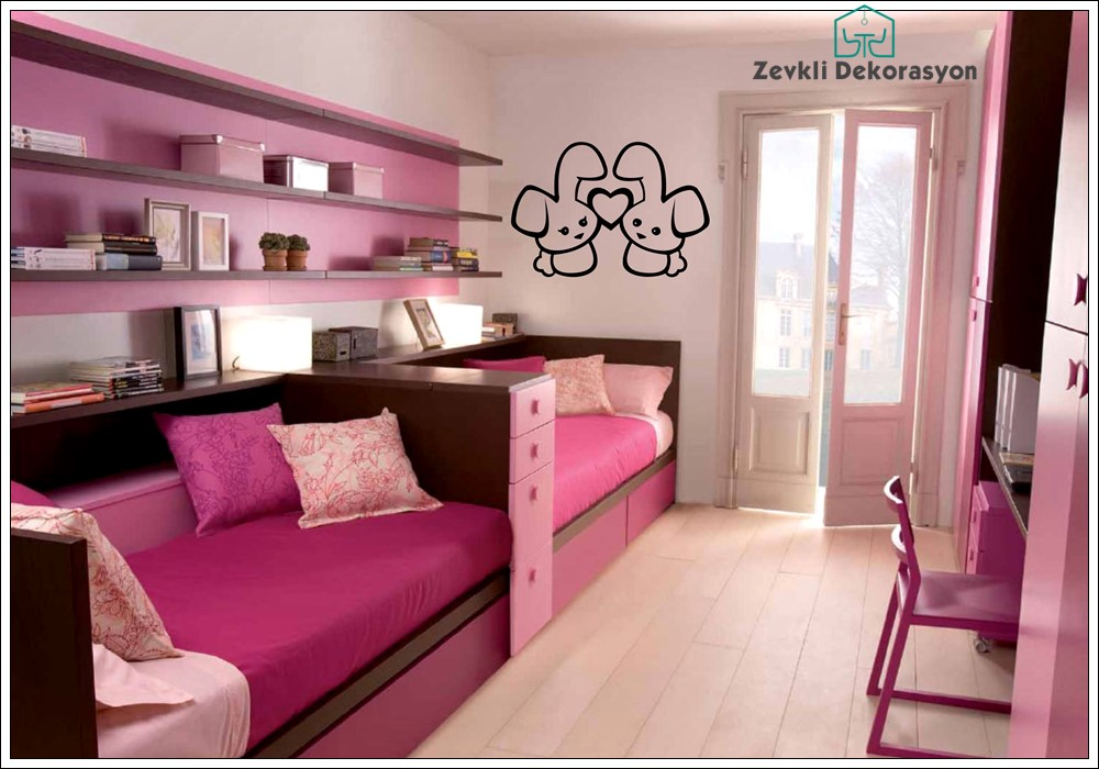 pembe yatak odası, pembe renkli odalar, yatak odası renk seçimi