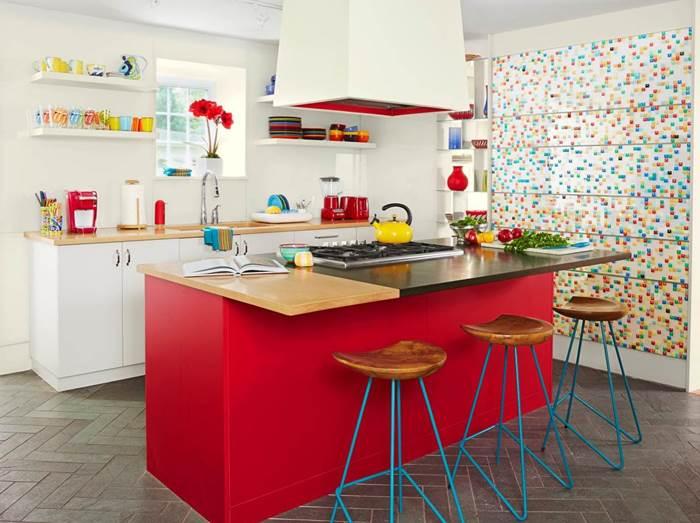 renkli mutfak dekorasyon modeli, ada mutfak modeli