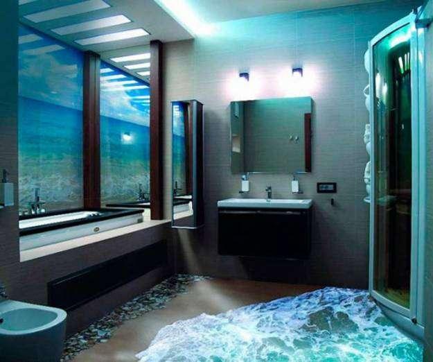 üç boyutlu banyo fayans modeli
