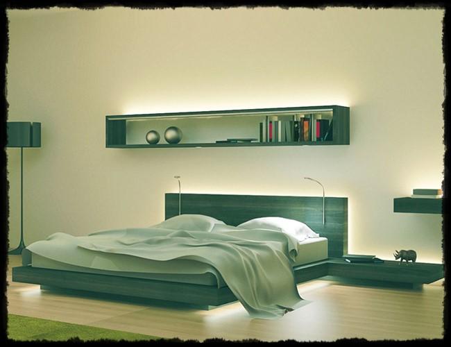 yatak led aydınlatma, yatak odası aydınlatma
