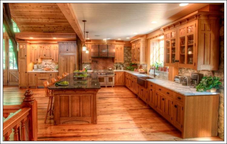 ahşap mutfak dekorasyonu, ahşap mutfak fikirleri
