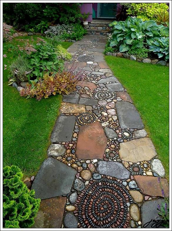 bahçe yürüyül yolu önerileri,bahçe yürüyüş yolu fikirleri