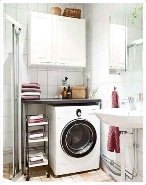 banyo çamaşır makinası dolap modelleri, çamaşır makinası dolap fikirleri