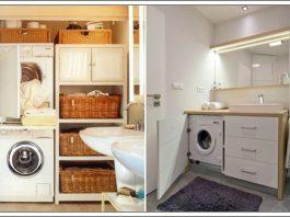 banyo çamaşır makinası dolap modelleri, çamaşır makinası dolap modelleri