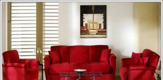 kırmızı oturma grubu, kırmızı oturma odası dekorasyon fikirleri
