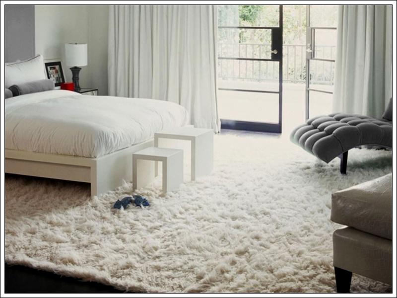 yatak odası halı, beyaz halı modeli