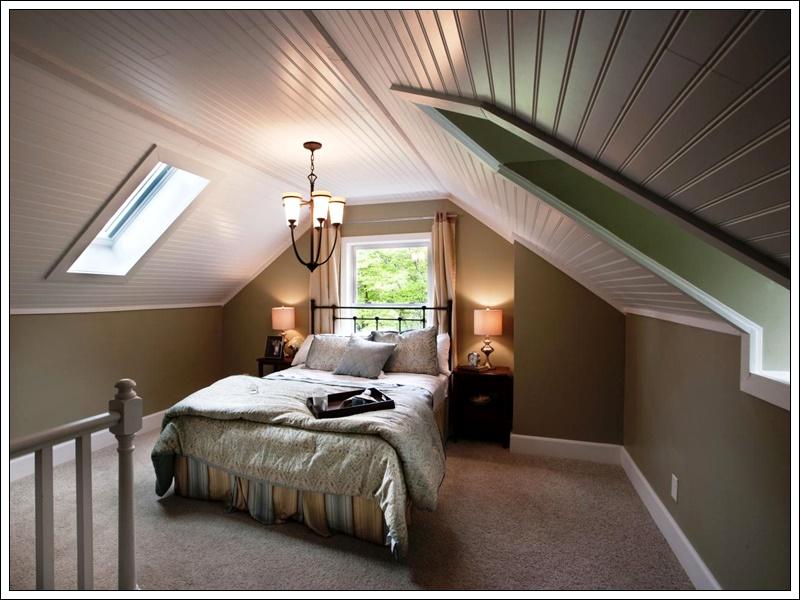 çatı katı yatak odası modeli,yatak odası dekorasyonu